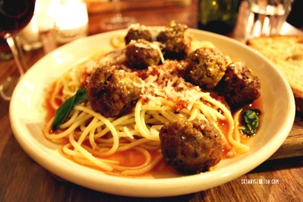 Meatball and spaghetti special