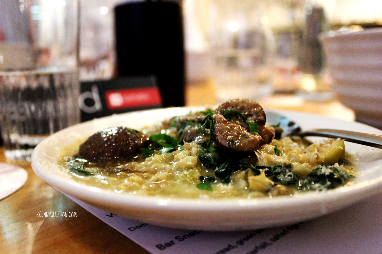 Barley risotto with mushrrom.
